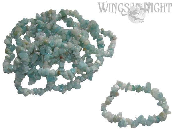 Amazonite Crystal Chip Gemstone Bracelet